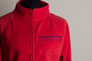 fleece jacket logo embroidered front details
